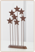 Willow Tree Julekrybbe - Metal star backdrop