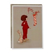Julekort dobbel : Belle & Boo Christmas Stocking