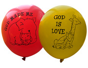 Ballonger : God is love : God made me 10 stk