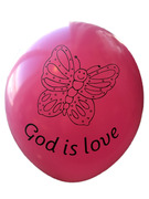 Ballonger : God is love rosa 10 stk