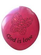 Ballonger : God is love rosa
