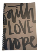 Notatbok : Faith Love Hope