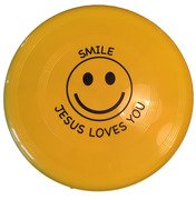 Frisbee : Smiley Jesus loves You